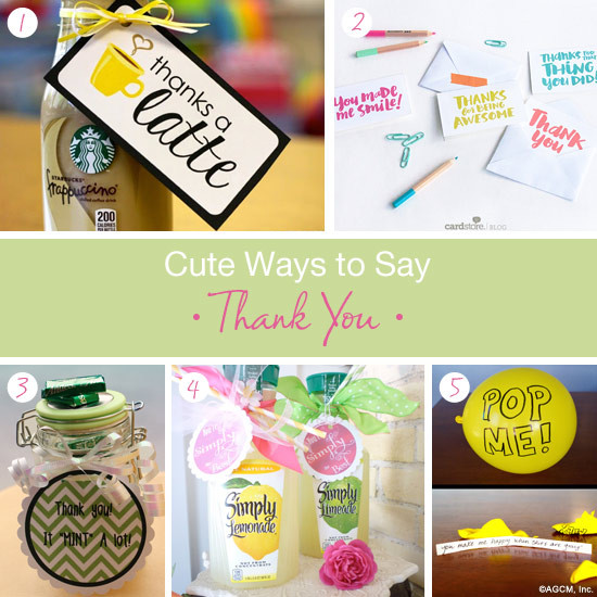 Thank You Gift Ideas  Cute thank you t ideas American Greetings Blog