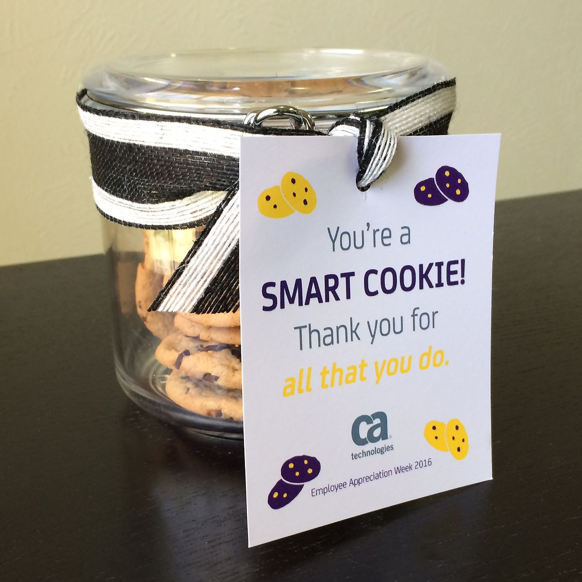 "Thank You Gift Ideas For Employees  ""You re a SMART COOKIE Thank you for all that you do"