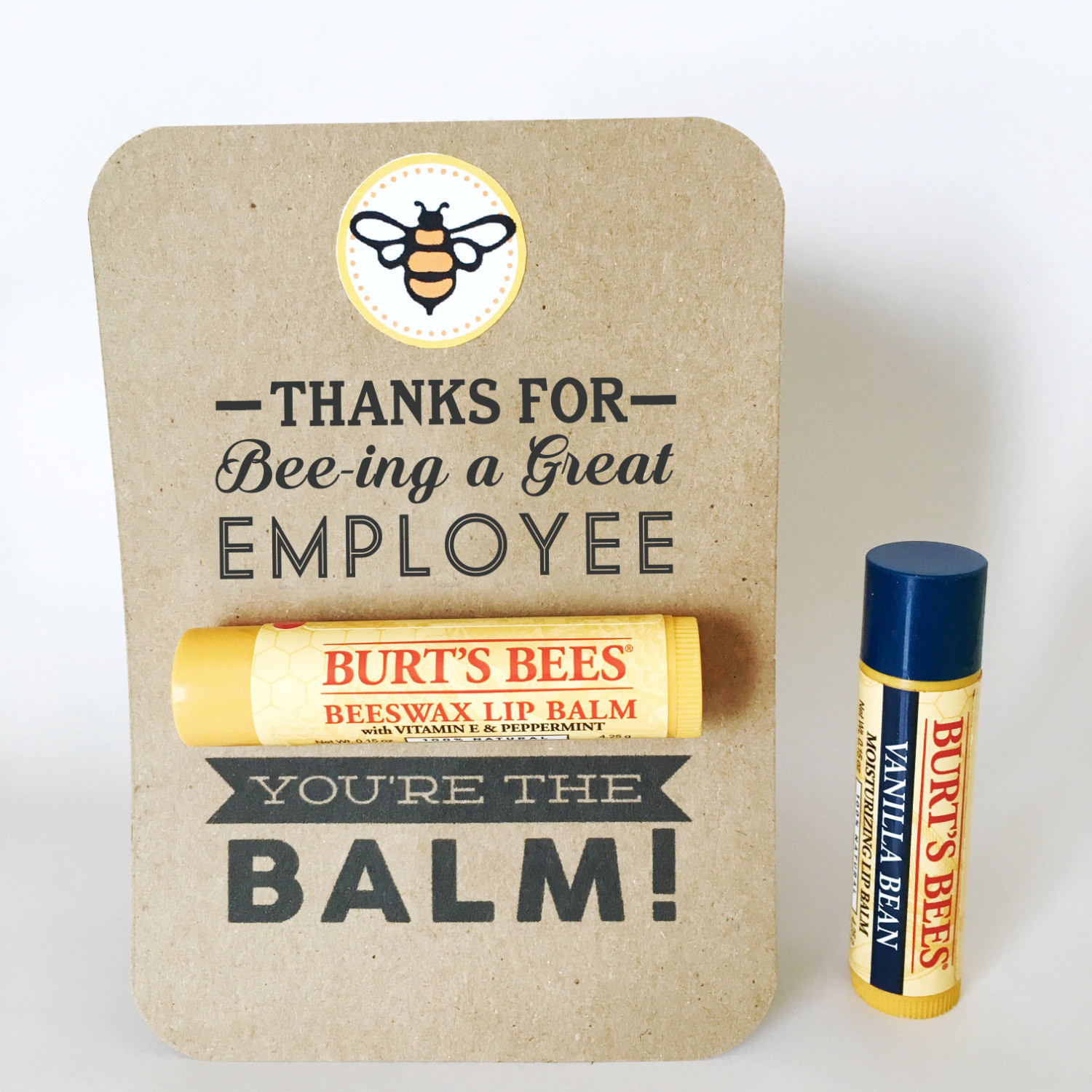Thank You Gift Ideas For Employees  EMPLOYEE APPRECIATION Gift You re the Balm Chapstick
