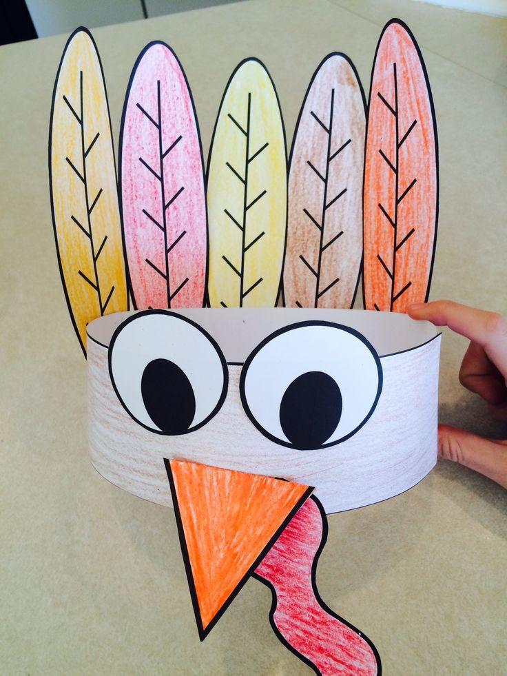 Thanksgiving Art Projects For Preschoolers  Best 25 Turkey hat ideas on Pinterest