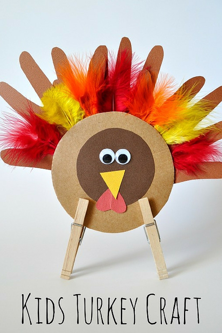 Thanksgiving Art Projects For Preschoolers  Thanksgiving Turkey Craft for Kids
