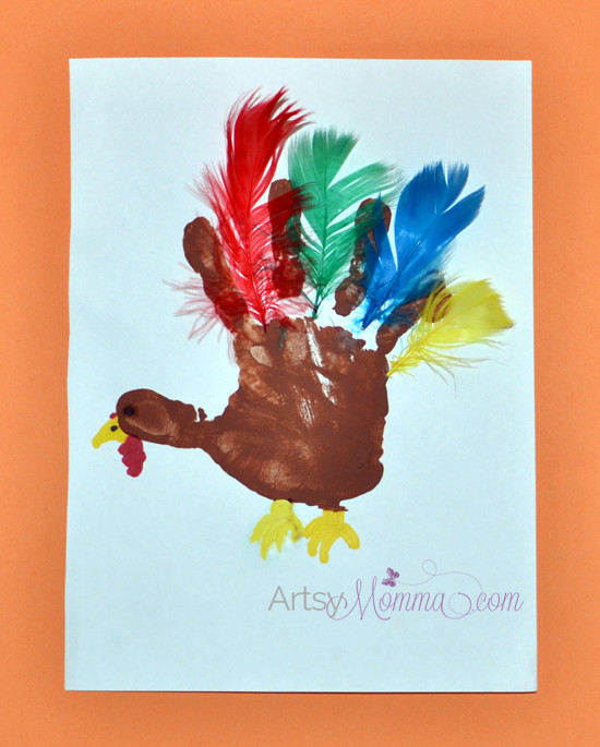 Thanksgiving Art Projects For Preschoolers  Turkey Crafts for Preschoolers Artsy Momma