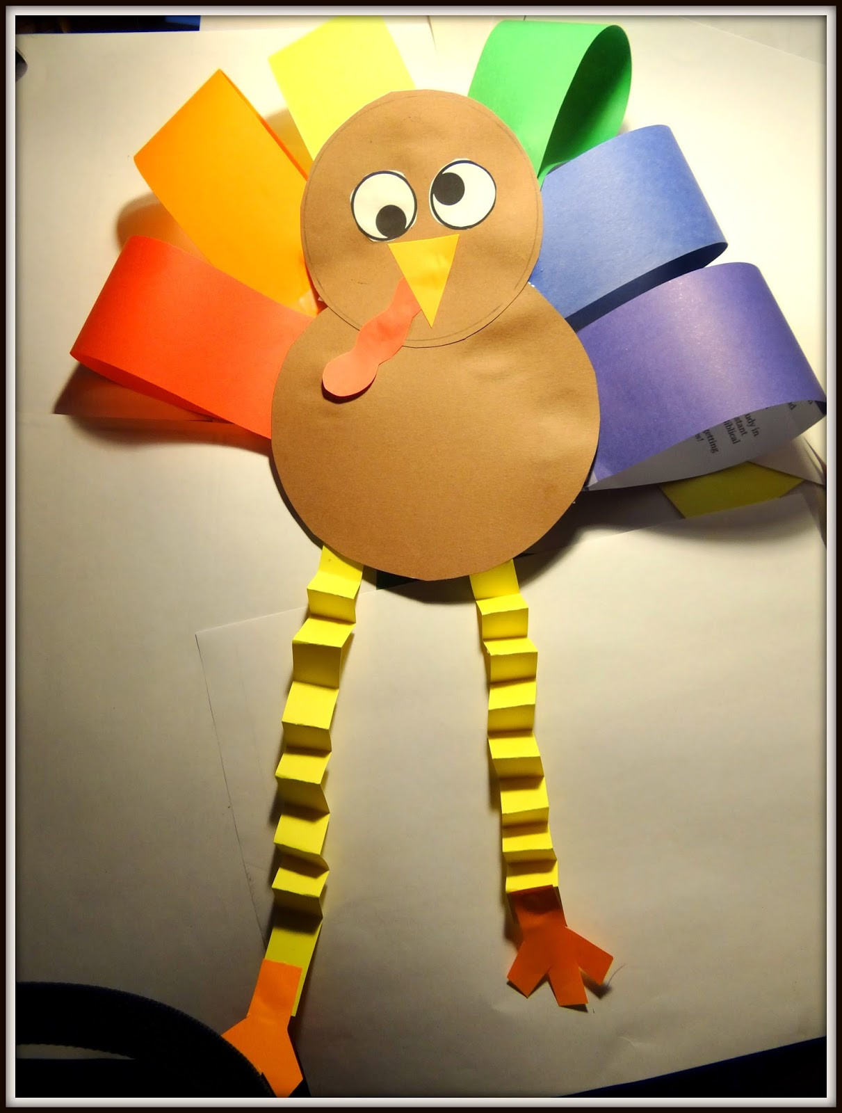 Thanksgiving Art Projects For Preschoolers  PATTIES CLASSROOM Turkey Art Project from Colored Paper