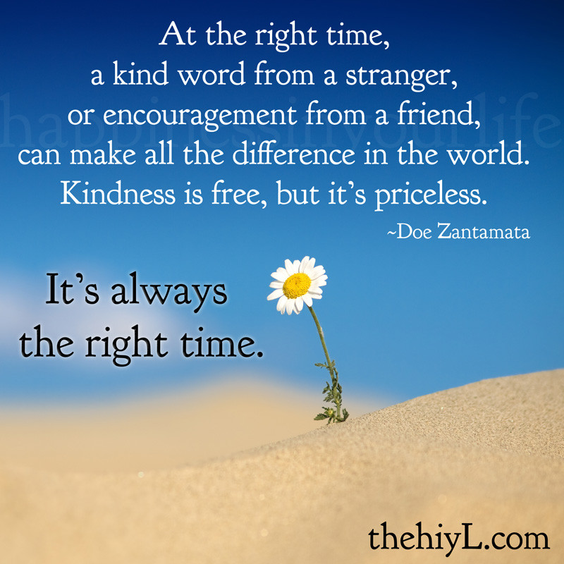 The Kindness Of Strangers Quote  Doe Zantamata Quotes At the right time
