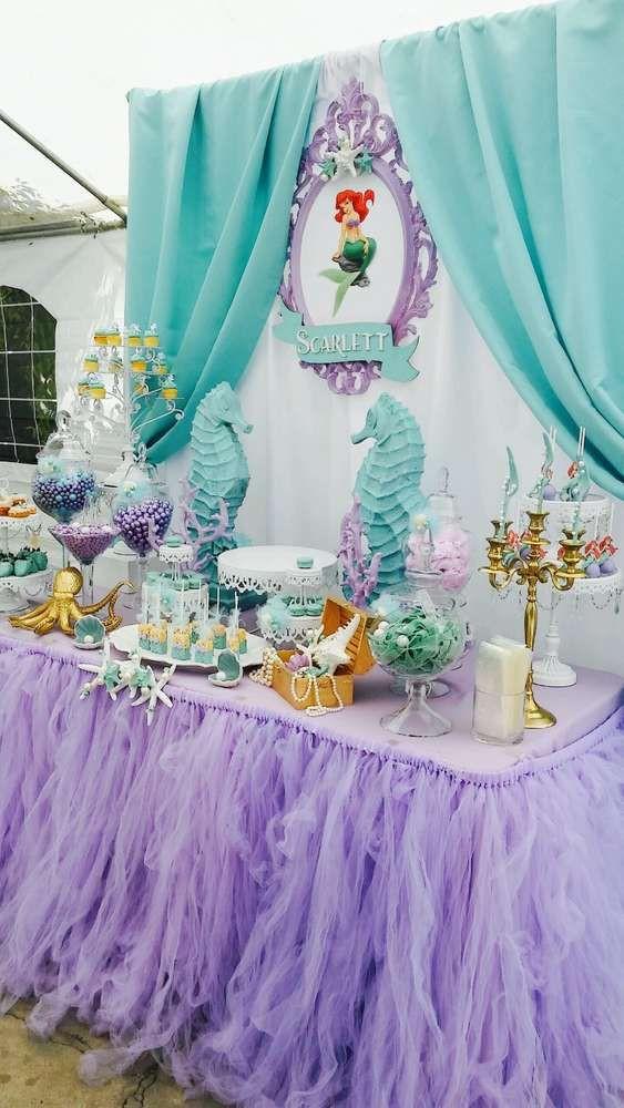 The Little Mermaid Party Ideas Pinterest  25 best ideas about Little mermaid birthday on Pinterest