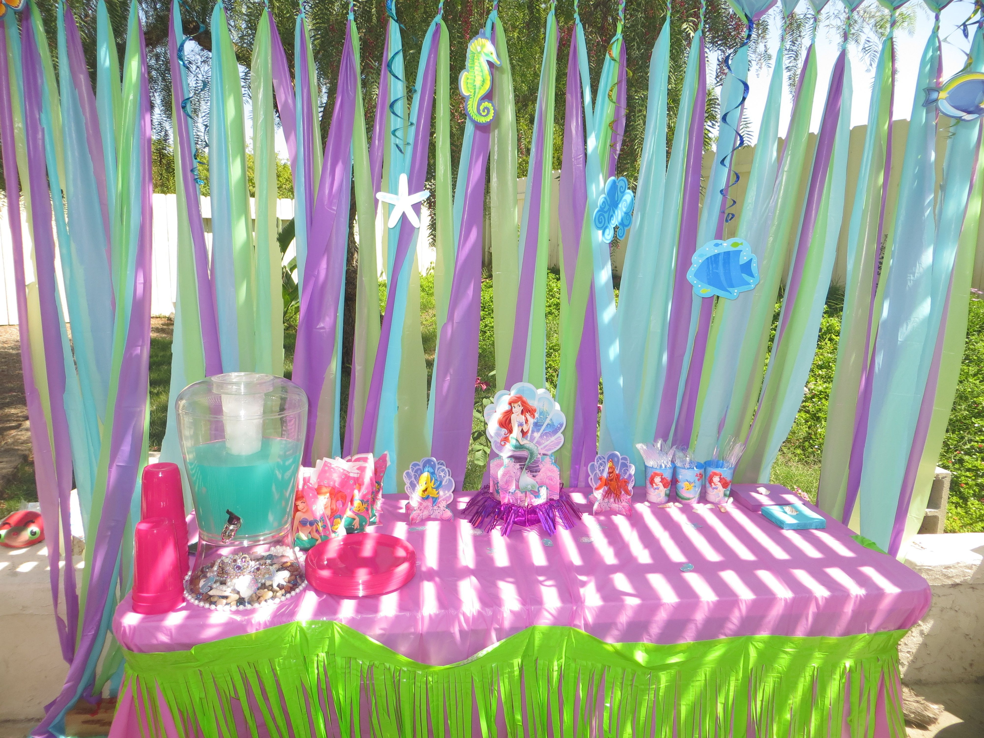 The Little Mermaid Party Ideas Pinterest  Arianna s 3rd birthday party decorations The little