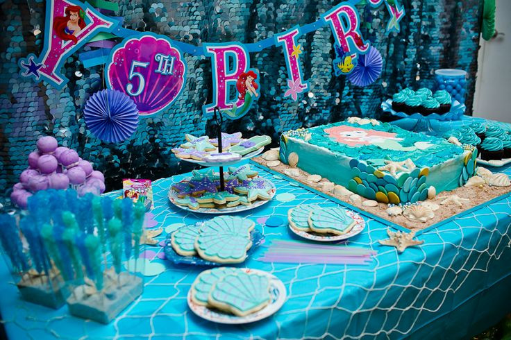 The Little Mermaid Party Ideas Pinterest  Kristen s Little Mermaid and Under the Sea Birthday Party