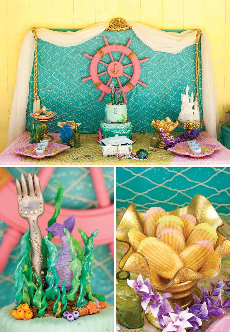 The Little Mermaid Party Ideas Pinterest  Crafty & Creative Little Mermaid Birthday Pool Party