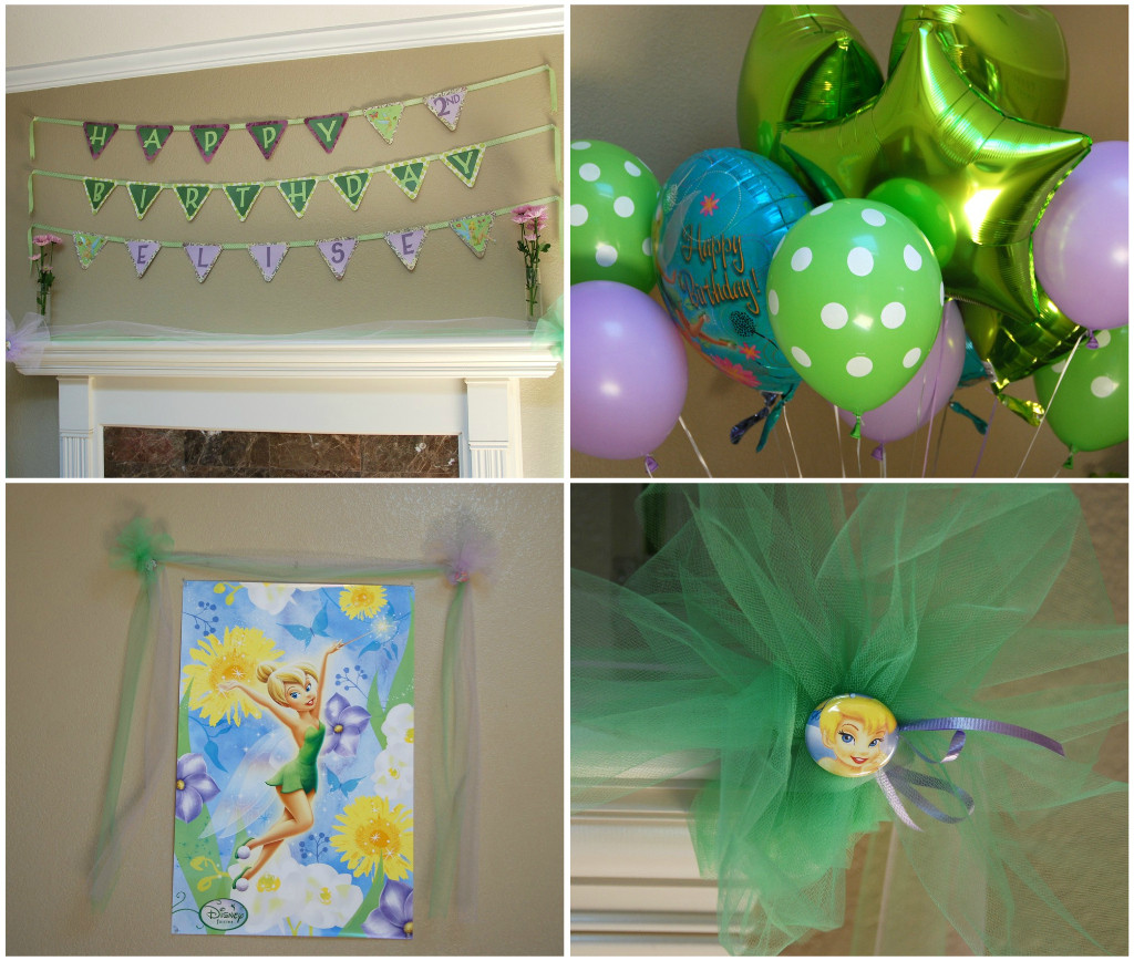 Tinkerbell Birthday Party Decorations  All Things Elise & Alina Elise s Second Birthday