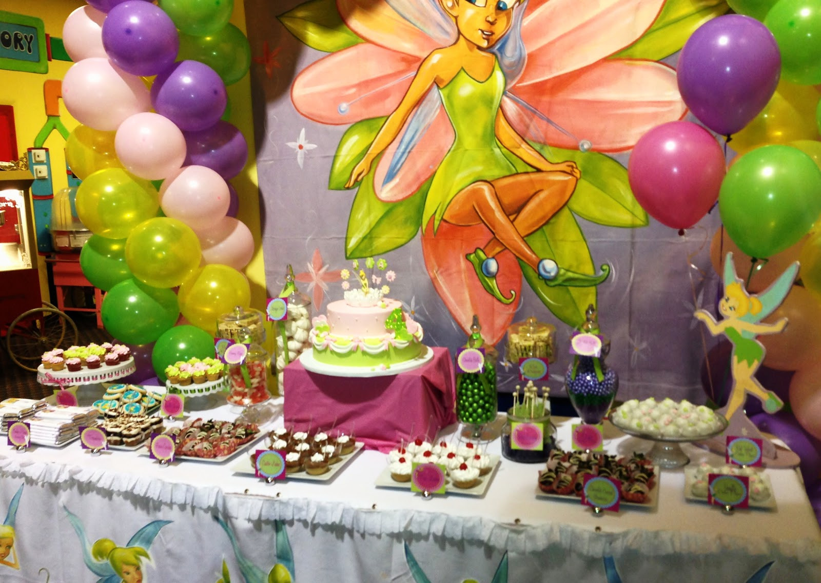 Tinkerbell Birthday Party Decorations  SWEET TREATS CAROUSEL Tinkerbell Dessert table