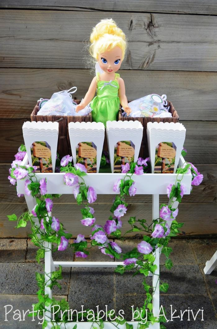 Tinkerbell Birthday Party Decorations  Kara s Party Ideas Tinkerbell Party with So Many Really