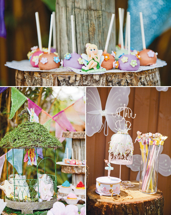 Tinkerbell Birthday Party Decorations  Magical Tinkerbell Party Backyard Pixie Hollow Hostess