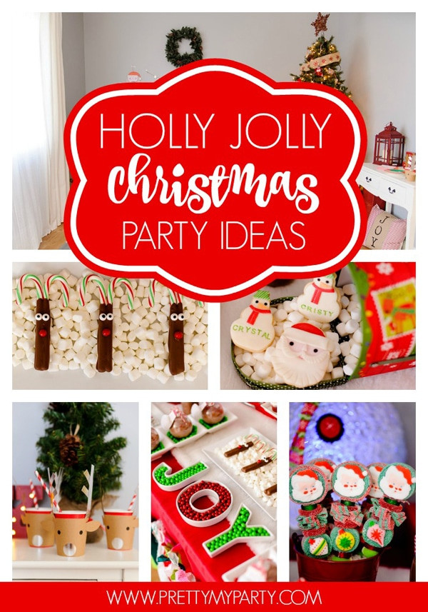 Toddler Christmas Party Ideas  Holly Jolly Christmas Party Pretty My Party