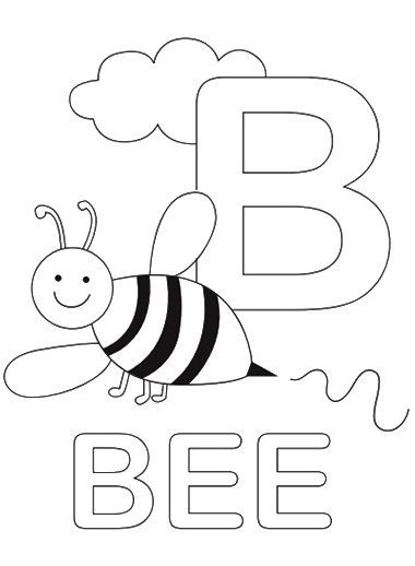 Toddler Learning Coloring Sheets Free  Top 10 Free Printable Letter B Coloring Pages line