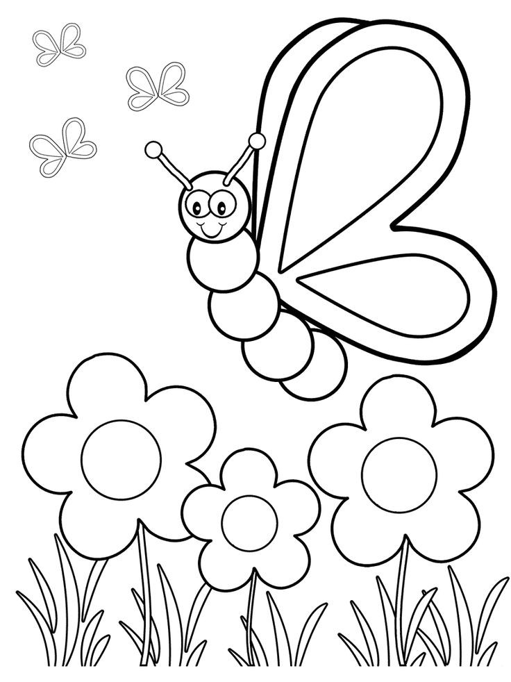 Toddler Learning Coloring Sheets Free  Top 50 Free Printable Butterfly Coloring Pages line