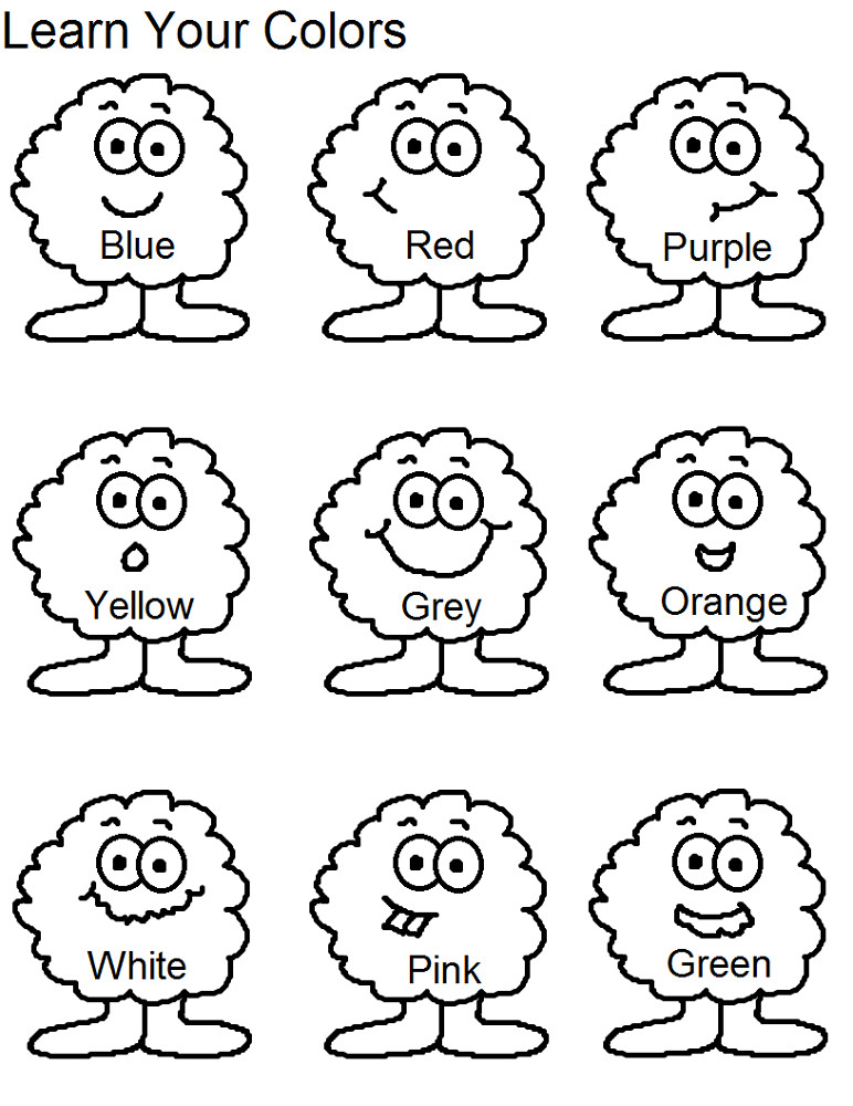 Toddler Learning Coloring Sheets Free  Toddlers Learning Printables