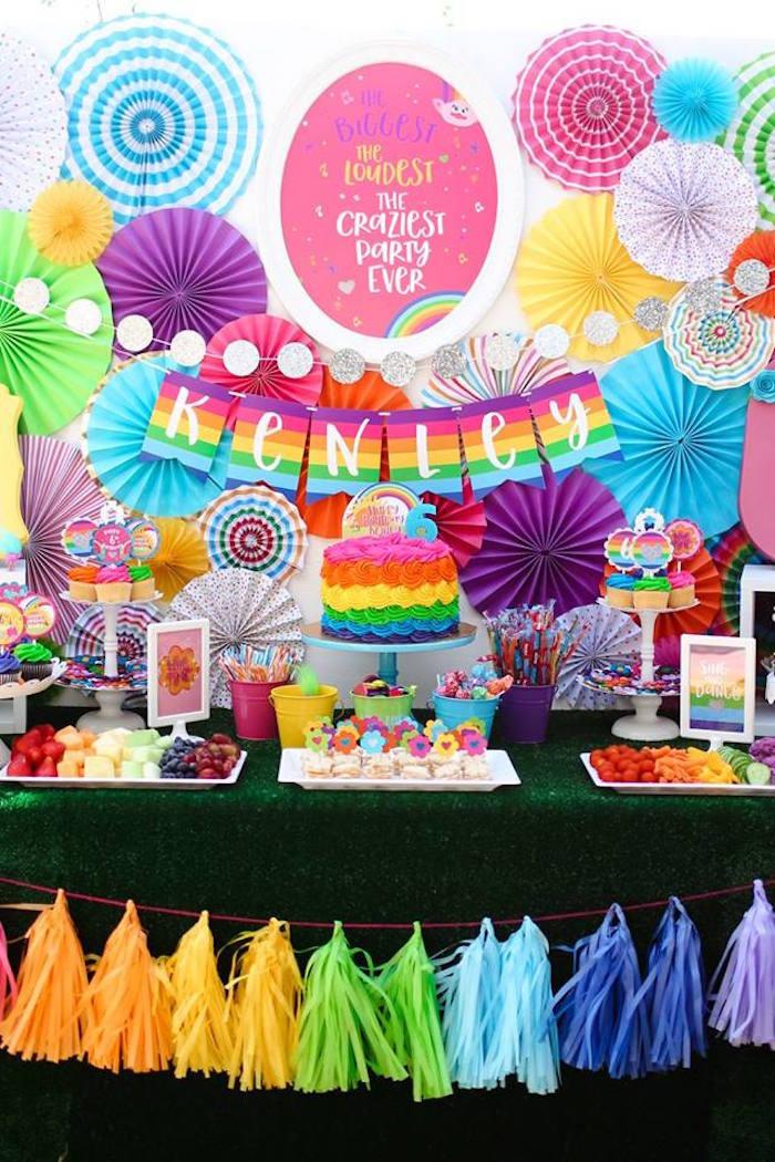 """Troll Party Ideas  Kara s Party Ideas """"Troll tastic"""" Trolls Birthday Party"""
