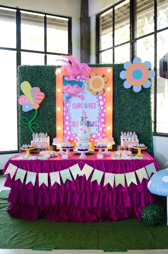 Troll Party Ideas  Kara s Party Ideas Colorful Trolls Birthday Party