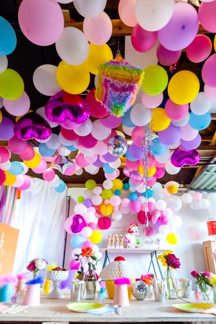Troll Party Ideas  Kara s Party Ideas Rainbow Trolls Disco Birthday Party