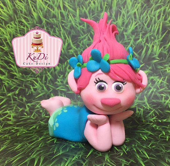 Trolls Birthday Cake Topper  Trolls poppy 3D Cake Topper fondant in 2019