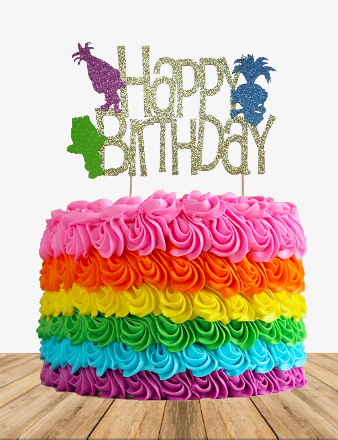 Trolls Birthday Cake Topper  Troll Cake topper troll birthday cake topper troll birthday