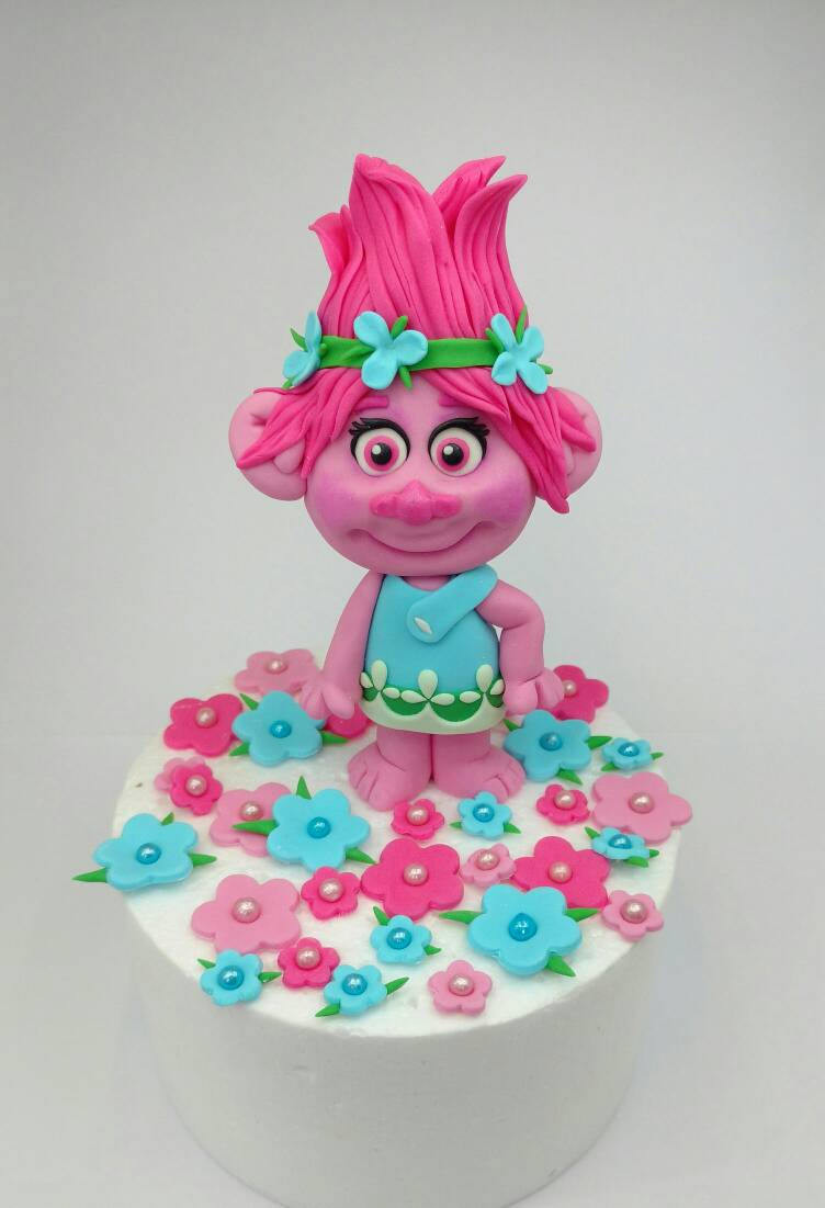 Trolls Birthday Cake Topper  Trolls Princess Poppy Troll edible birthday cake topper