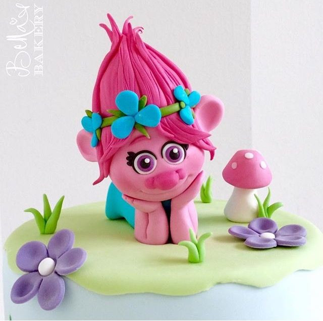 Trolls Birthday Cake Topper  17 Best images about Troll Cakes on Pinterest