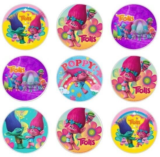 Trolls Birthday Cake Topper  24 TROLLS Edible Cupcake Fairy Cake Toppers Rice Paper