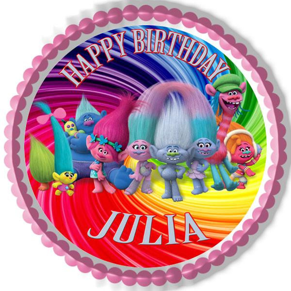 Trolls Birthday Cake Topper  Trolls Edible Cake Topper & Cupcake Toppers – Edible