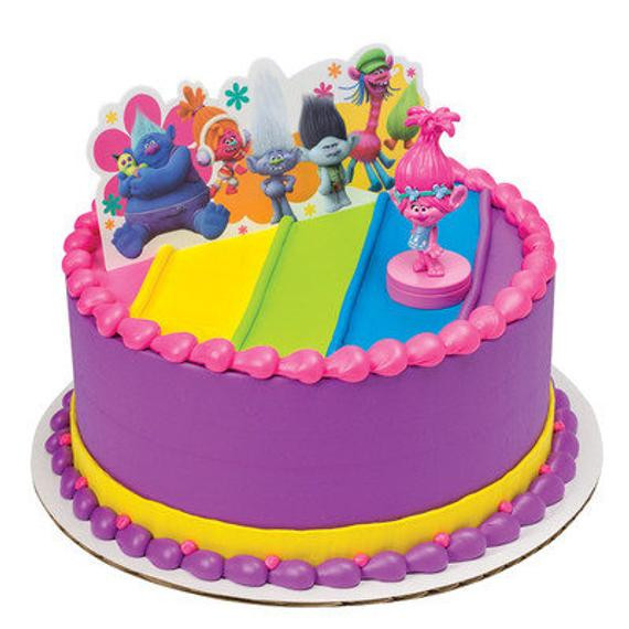 Trolls Birthday Cake Topper  Items similar to Trolls Birthday Cake Topper Poppy Troll