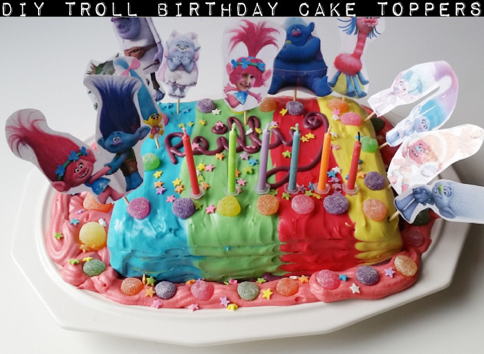Trolls Birthday Cake Topper  DIY Troll Birthday Cake Toppers by Confessions of a