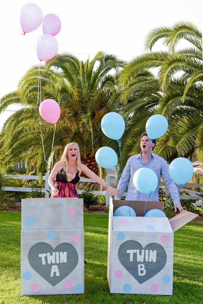 Twins Gender Reveal Party Ideas  Best 25 Gender reveal twins ideas on Pinterest