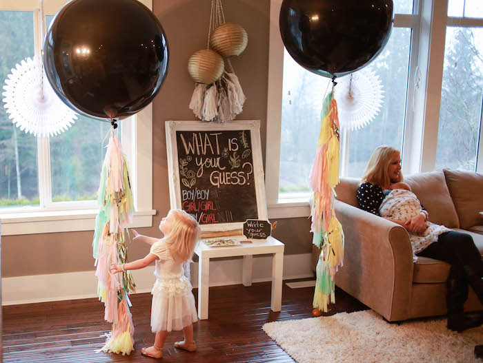 Twins Gender Reveal Party Ideas  Kara s Party Ideas Boho Inspired Twins Gender Reveal Party