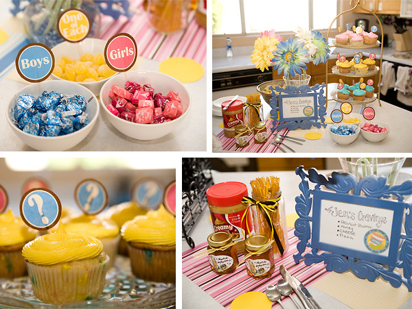 Twins Gender Reveal Party Ideas  Nothings and Notions from my Noodle Twin Gender Reveal Party