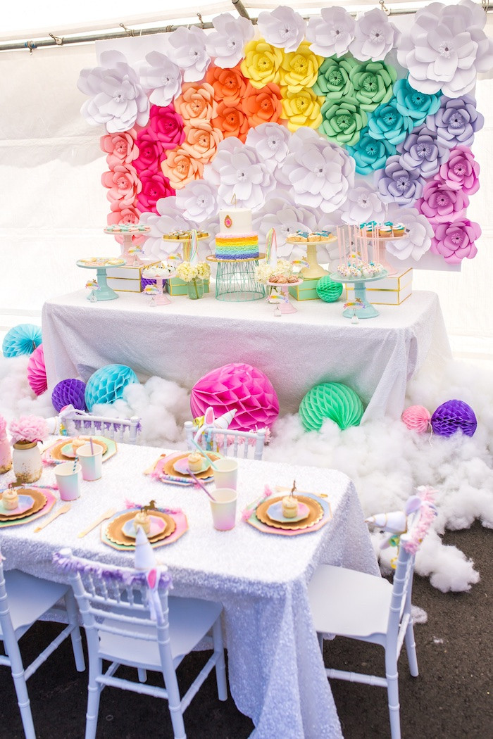 Unicorn Birthday Party Decorations Ideas  Kara s Party Ideas Magical Unicorn Birthday Party