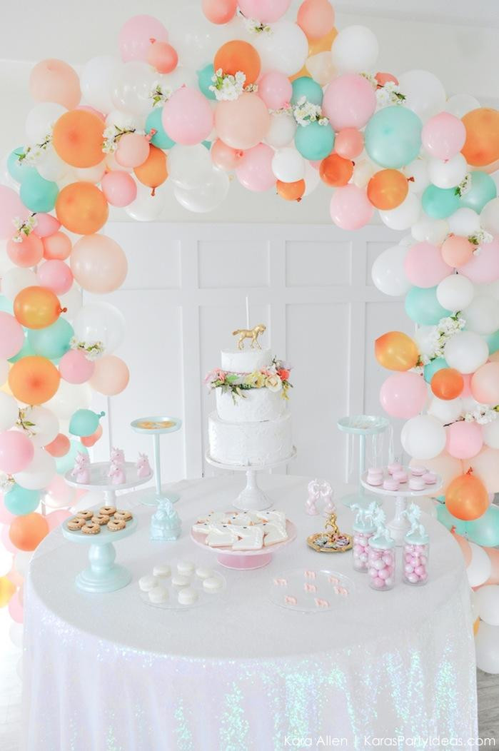 Unicorn Birthday Party Decorations Ideas  Kara s Party Ideas Dreamy Unicorn Birthday Party