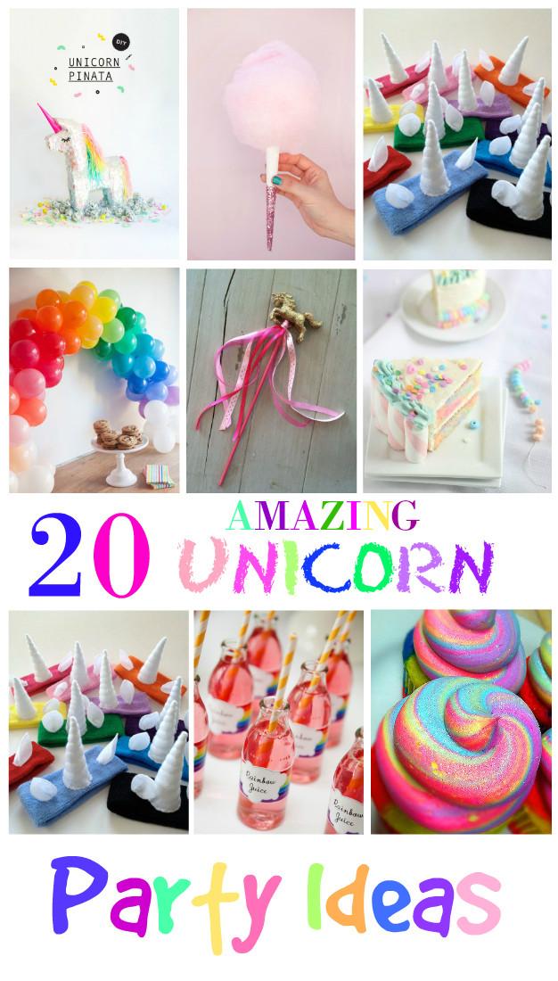 Unicorn Birthday Party Decorations Ideas  20 Amazing Unicorn Birthday Party Ideas for Kids