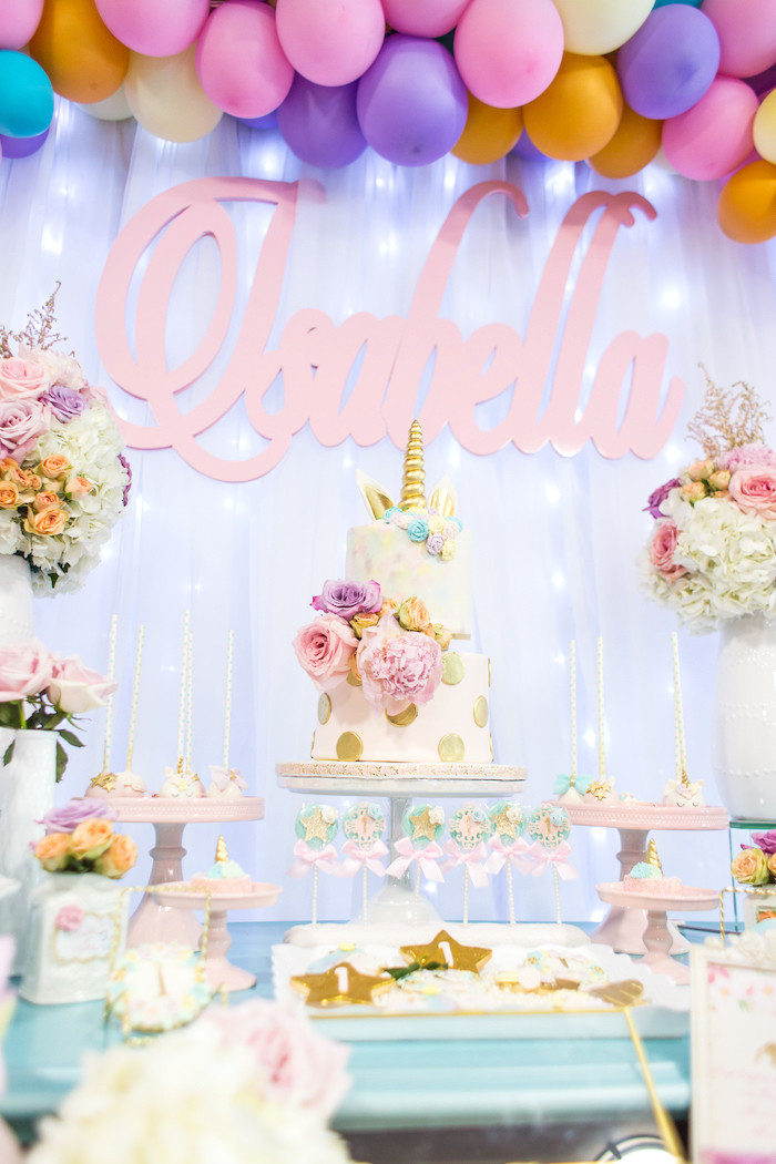 Unicorn Birthday Party Decorations Ideas  Kara s Party Ideas Mystical and Magical Unicorn Birthday