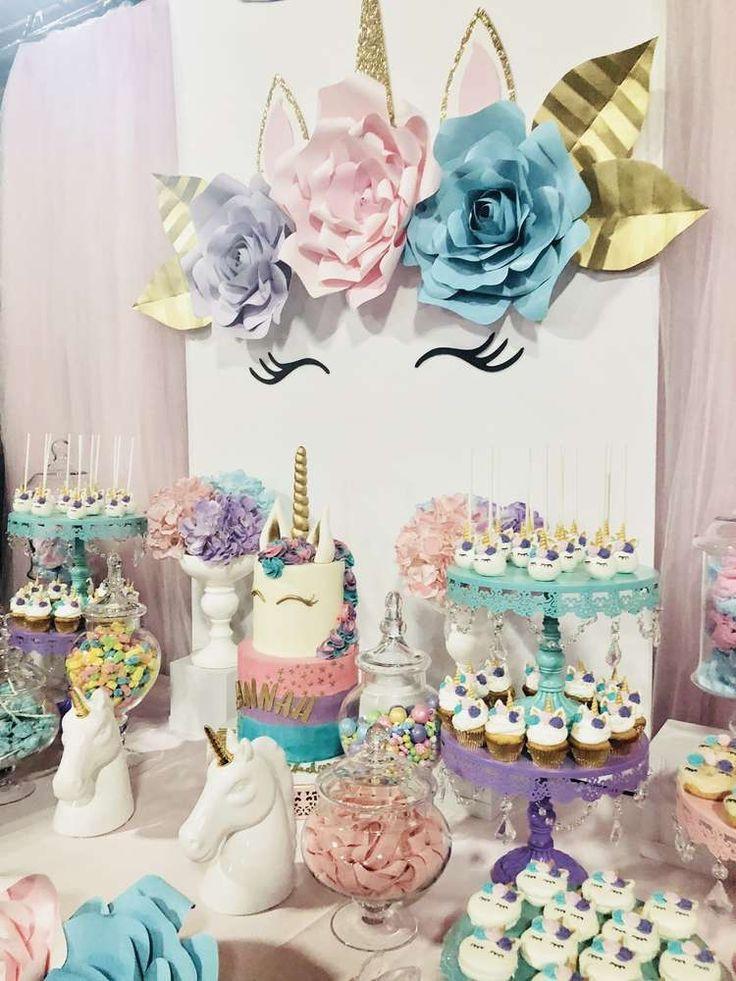 Unicorn Birthday Party Decorations Ideas  Best 25 Unicorn birthday parties ideas on Pinterest
