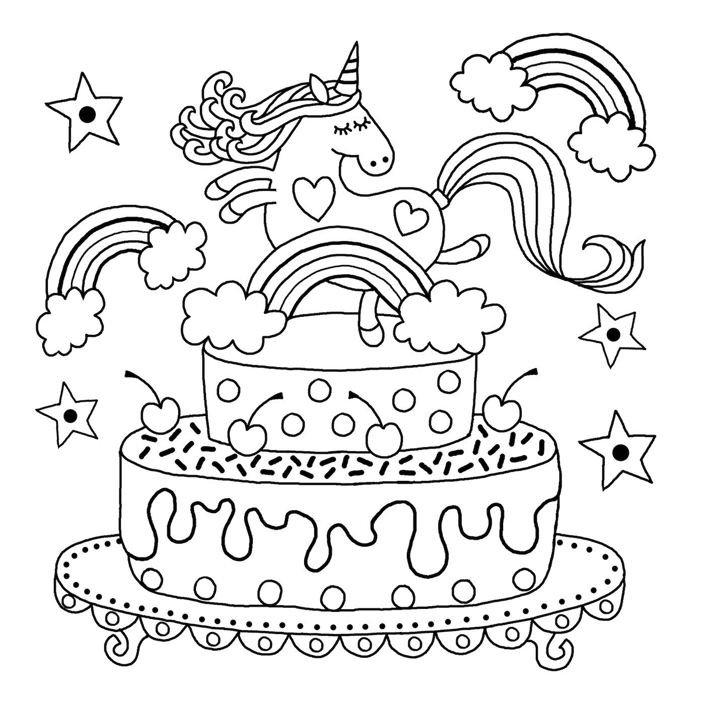 Unicorn Coloring Pages For Kids  Downloadable unicorn colouring page Michael O Mara Books