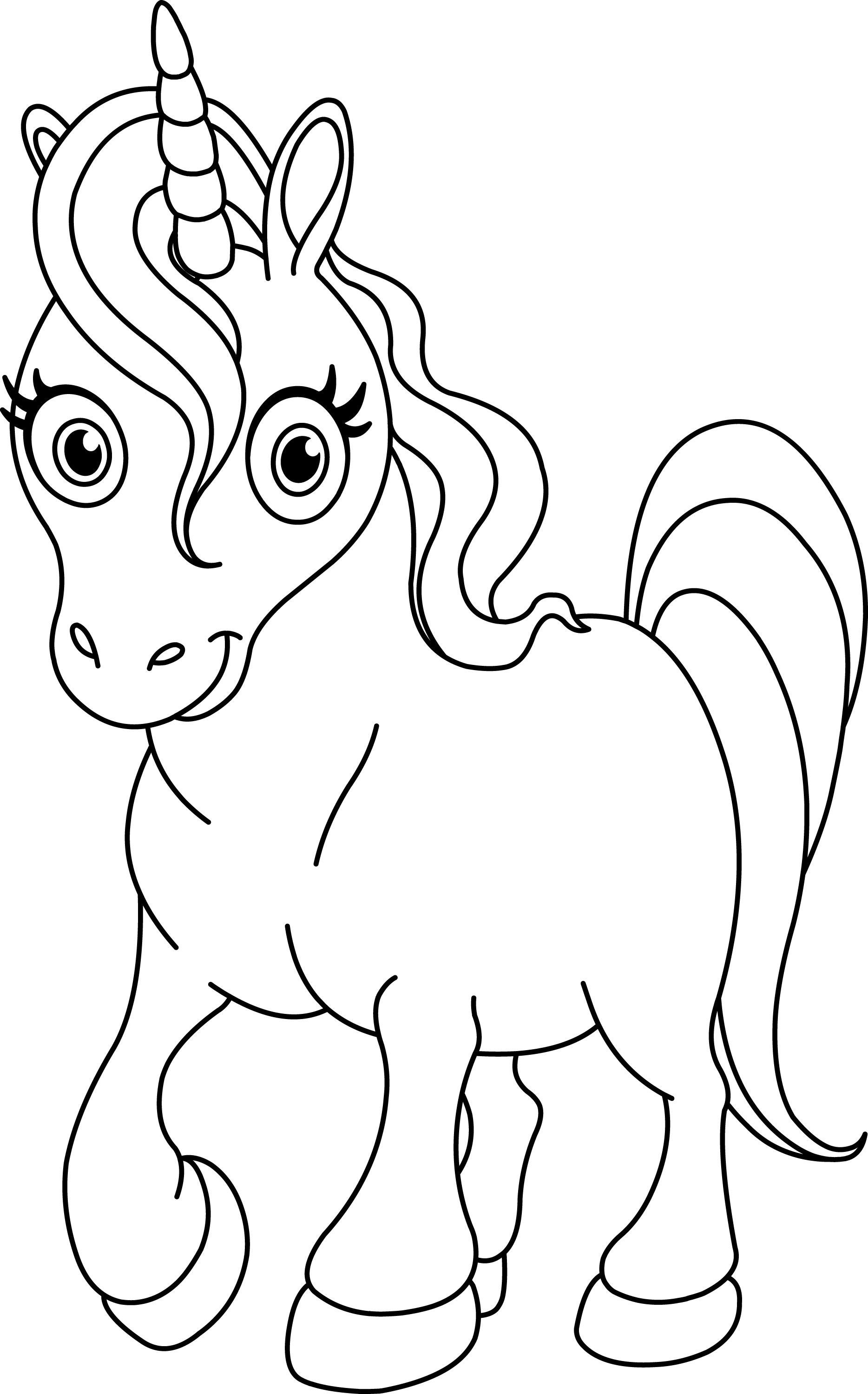 Unicorn Coloring Pages For Kids  Pay attention for this explanation to do the Unicorn