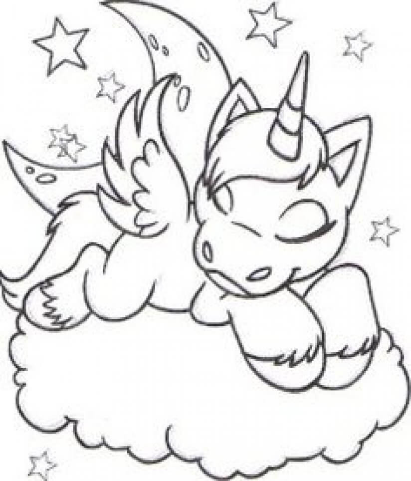 Unicorn Coloring Pages For Kids  41 Magical Unicorn Coloring pages