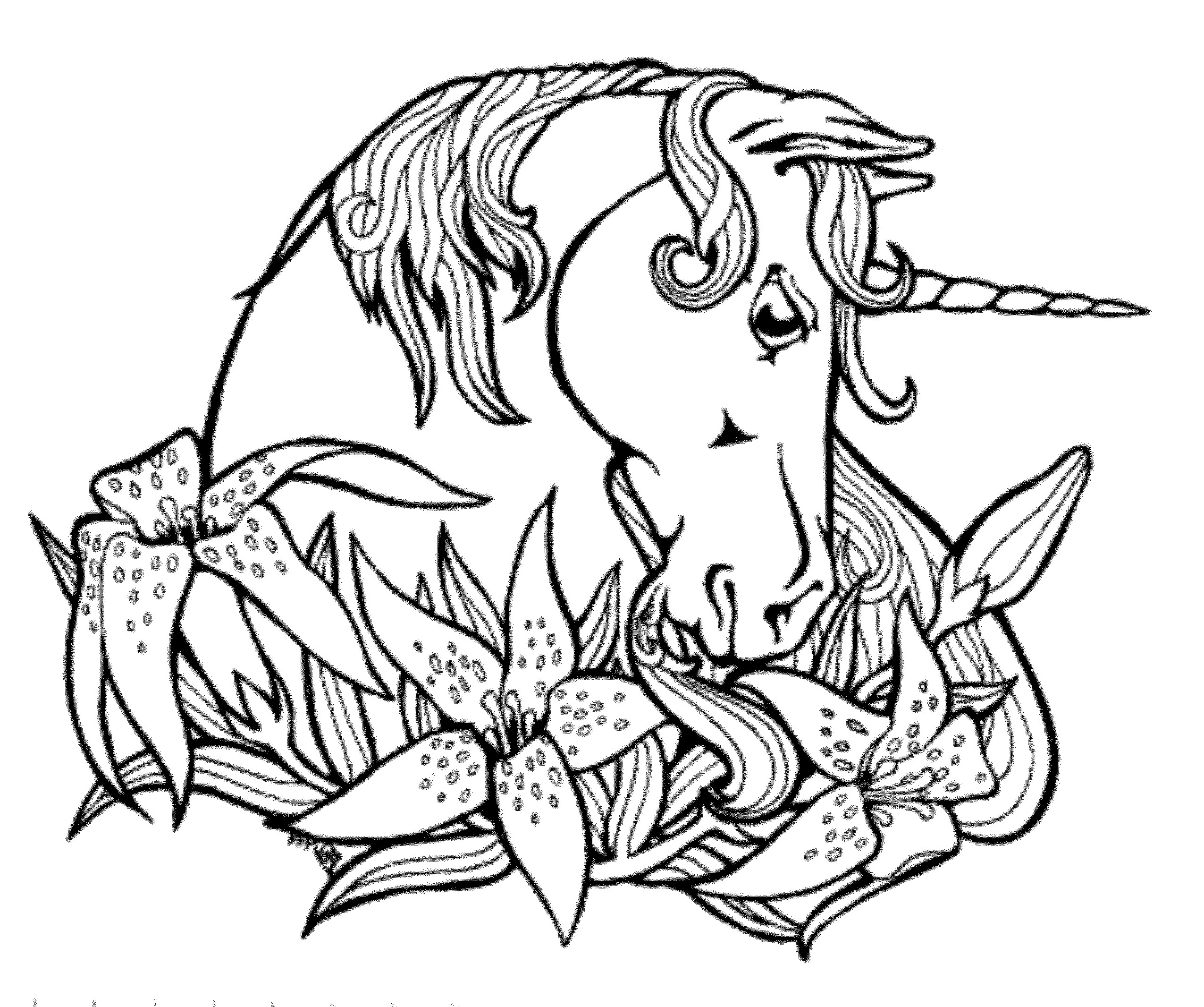 Unicorn Coloring Pages For Kids  Print & Download Unicorn Coloring Pages for Children
