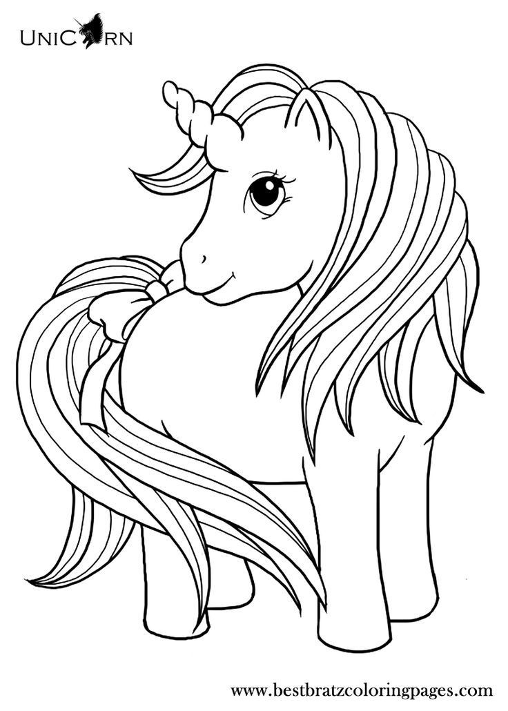 Unicorn Coloring Pages For Kids  Unicorn Coloring Pages For Kids Coloring Home