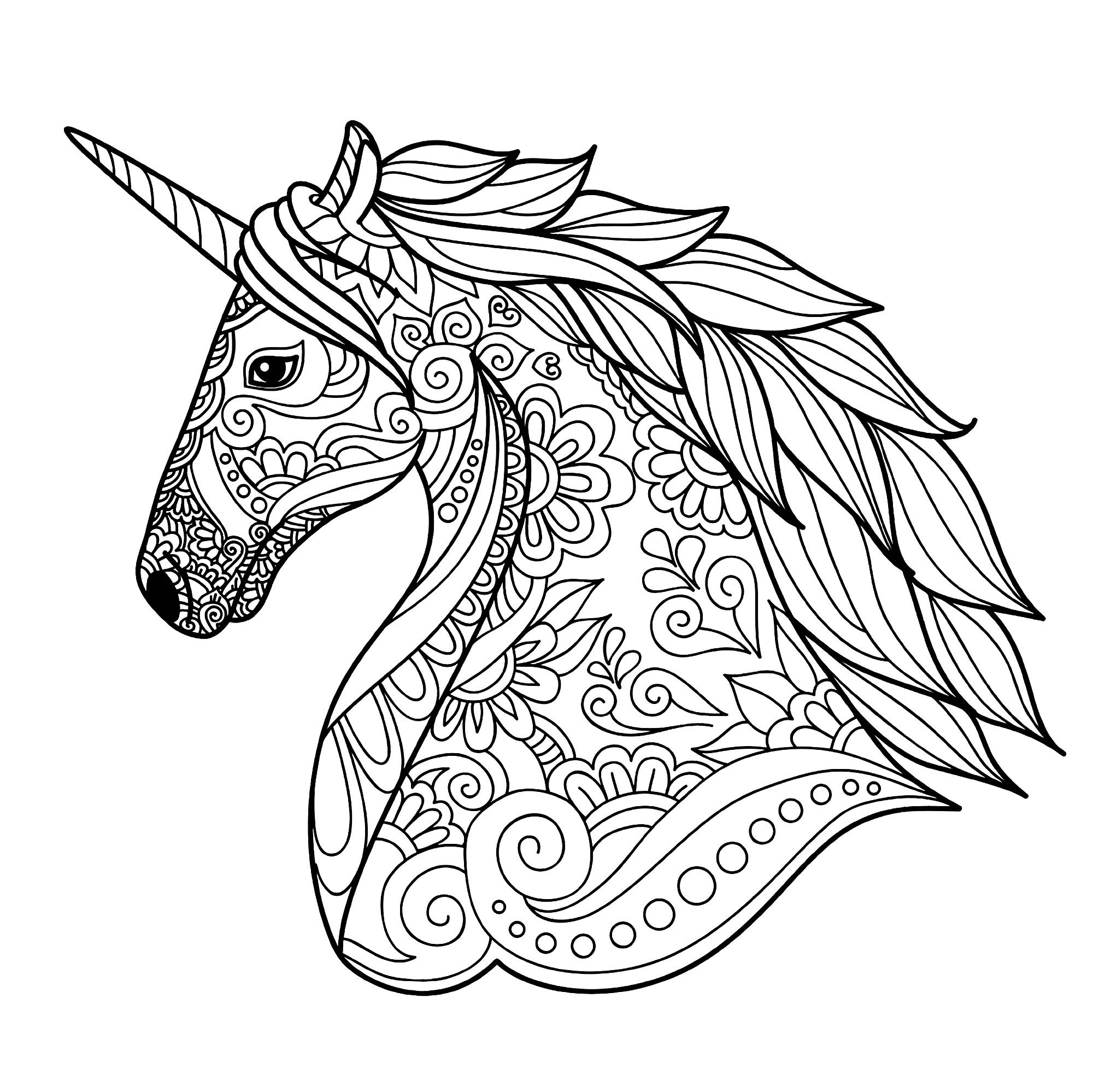 Unicorn Coloring Pages For Kids  Unicorns free to color for children Unicorns Kids