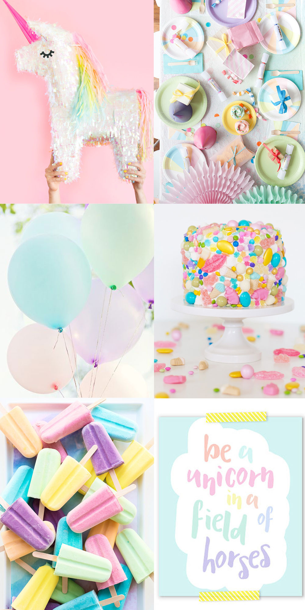 Unicorn Party Ideas  UNICORN PARTY INSPIRATION Tell Love and Party