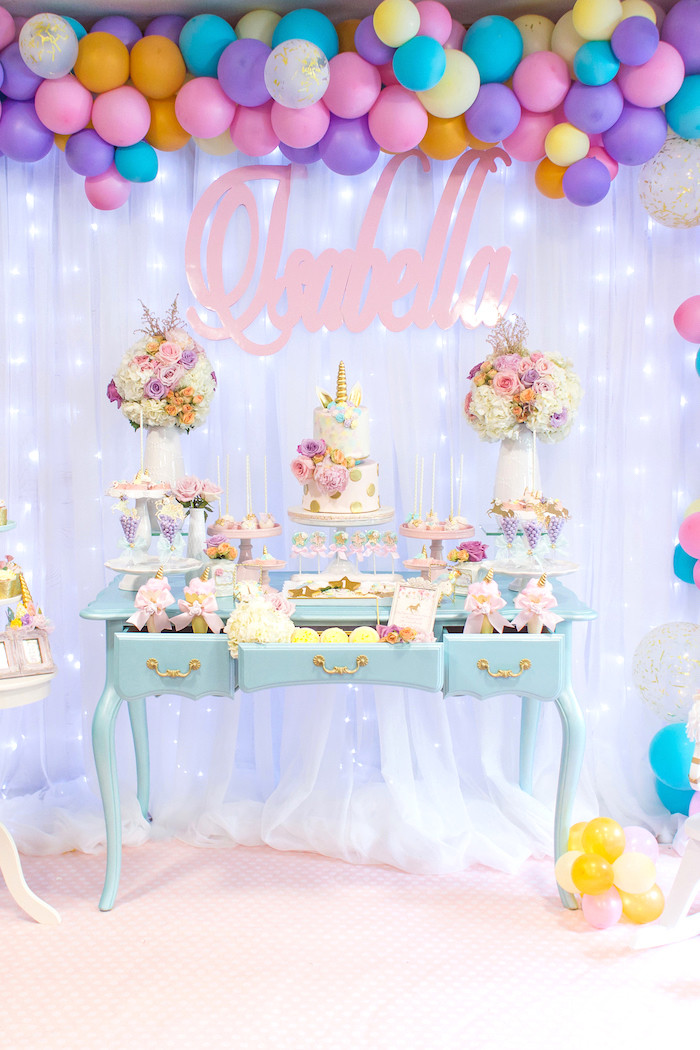 Unicorn Party Ideas  Kara s Party Ideas Mystical and Magical Unicorn Birthday