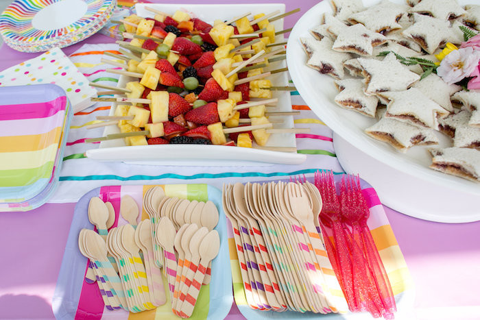 Unicorn Party Ideas Food  Kara s Party Ideas Rainbow Unicorn Birthday Party