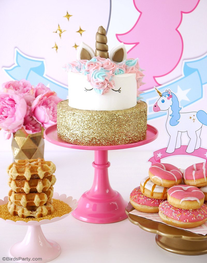 Unicorn Party Ideas  My Daughter s Unicorn Birthday Slumber Party Party Ideas