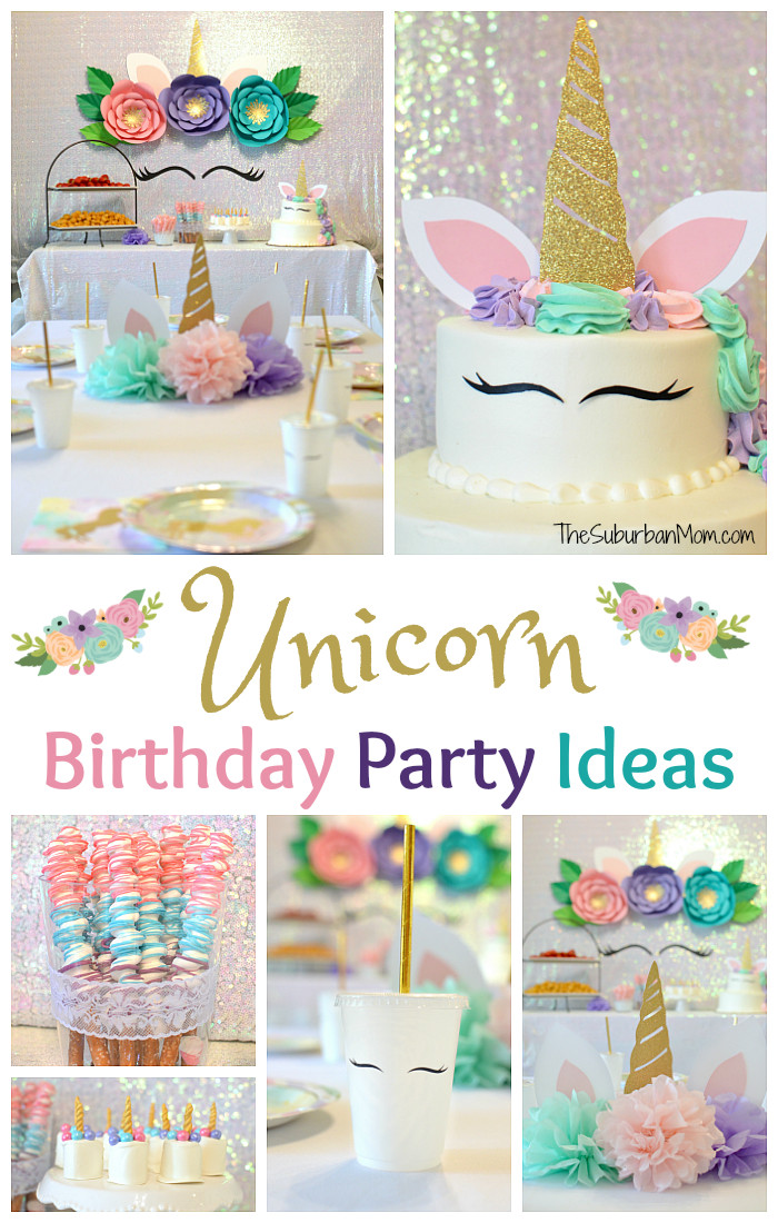Unicorn Party Ideas  Unicorn Birthday Party Ideas Food Decorations